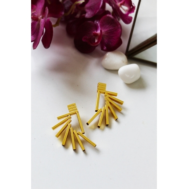 18K Gold Plated Prism Earrings