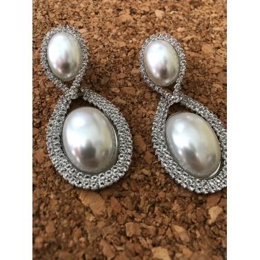Pearls Of Grace White Pearl Drop Earrings