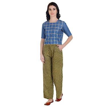 Pleated Green Trousers