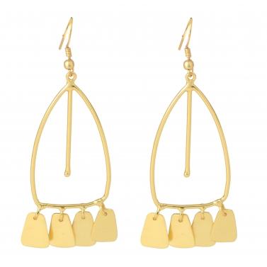belsis leaf plated drop earrings