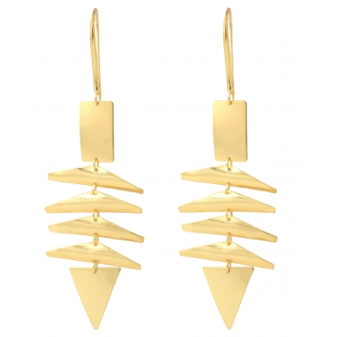 Belsis gold plated hanging earrings