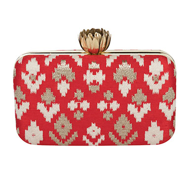 Red Ikat Lotus Top Box