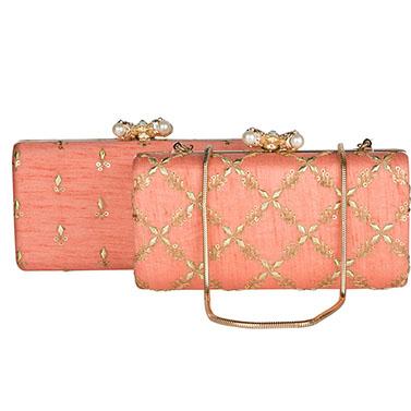Peach Gold Cross Box