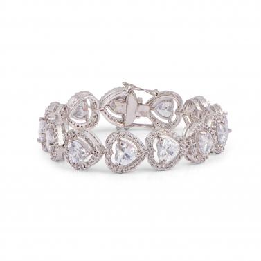 Heart shaped Solitare bracelet