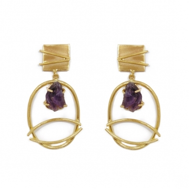 Fedora Earrings