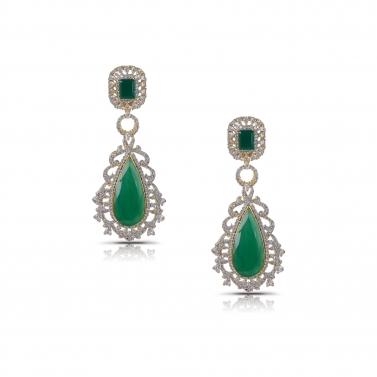 Emerald Green Whaterfall earrings