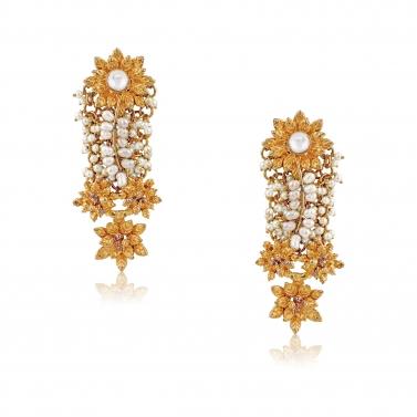 Pearls Kundan Gold finish Earrings