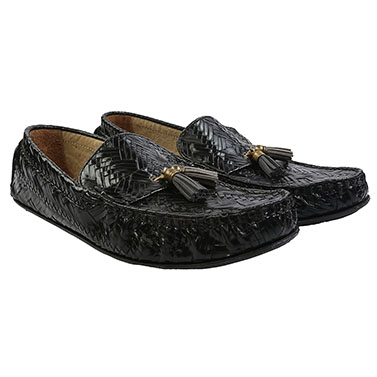 Black Tangled Loafers