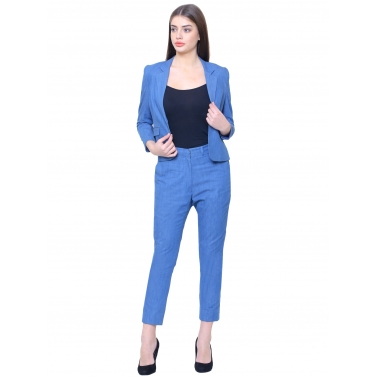 Denim semi casual suit