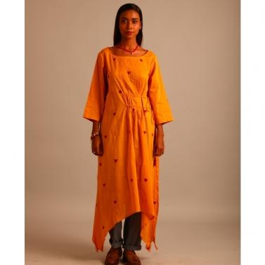 yellow Asymmetrical dress