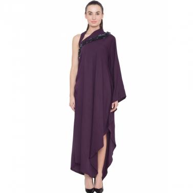 designer-womens-wear/mauve-embroidered-neck-drape-tunic