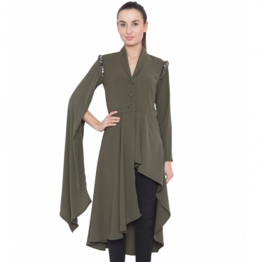 Long Sleeve Drape Jacket