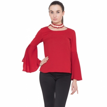 Red Angel Sleeve Top