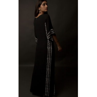 JASMINE BAINS BLACK EMBROIDERED SILK GEORGETTE KAFTAN -5.jpg