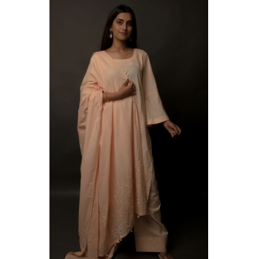 designer-womens-wear/peach-pin-tucked-cotton-suit-set