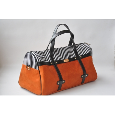 orange duffel