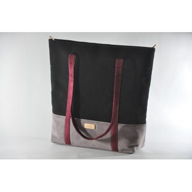 black grey tote
