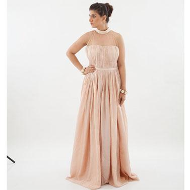 Pink halter dress