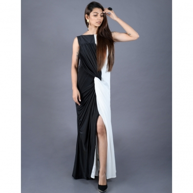 Black and White knotted dress