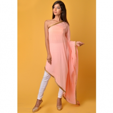 Pink off shoulder Kaftan top