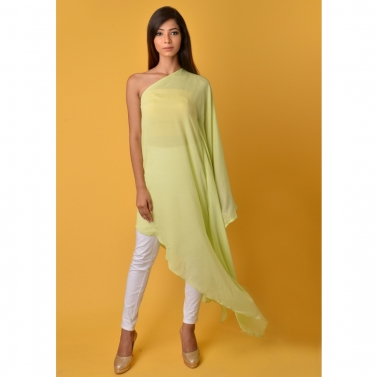Lime Green off shoulder kaftan top