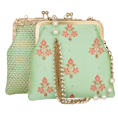 designer-womens-wear/pastel-mint-floral-kiss-lock-potli-clutch
