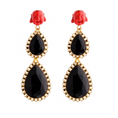 3 layered drop earrings