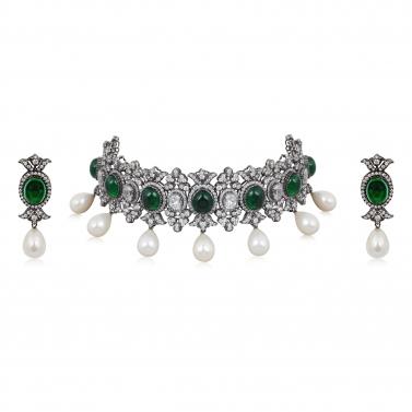 Victorian Emerald Choker Set