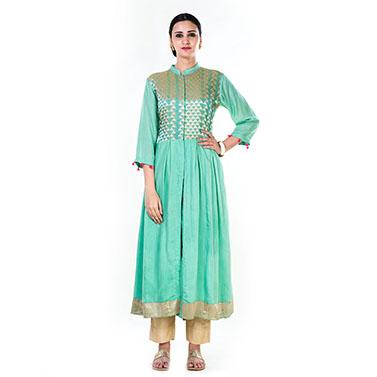 Blush Green Anarkali Suit Set