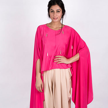 Free Size Cape And Dhoti Pants 1