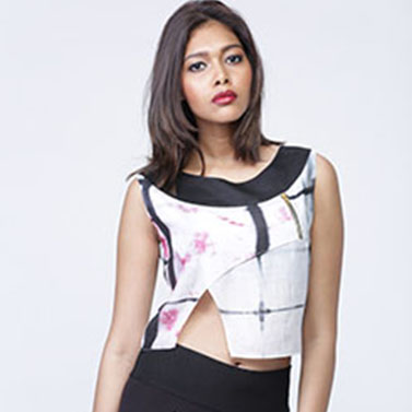 Cotton Silk Crop Top Printed