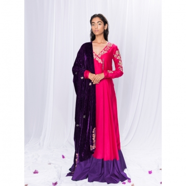 Anarkali with dupatta1