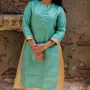 Double layered kurta(Green)