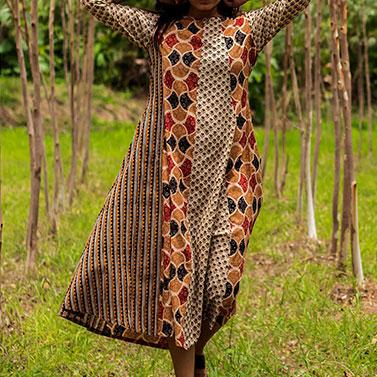 designer-womens-wear/asymmetric-3-panel-dress-mustard
