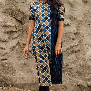 designer-womens-wear/asymmetric-panel-slit-kurta