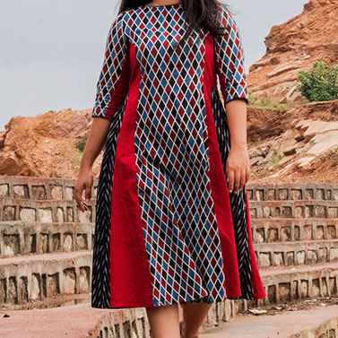 Geometric 3 Panel Dress