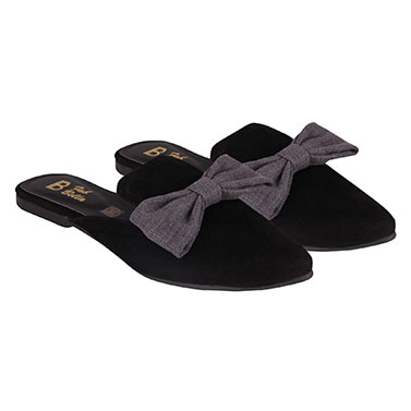 Black Bow Mules