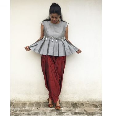 designer-womens-wear/the-indo-pleated-peplum-dress