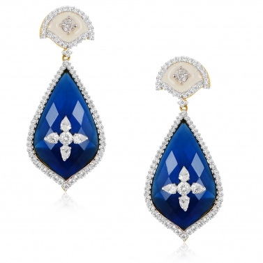 BLUE STATEMENT EARRING