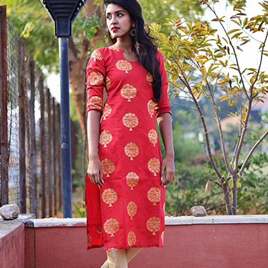 designer-womens-wear/designer-salwar-kameez/red-brocade-kurta-set