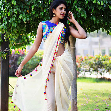 designer-womens-wear/designer-sarees/off-white-trouser-sari