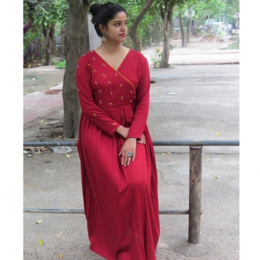 The Angrakha Dress